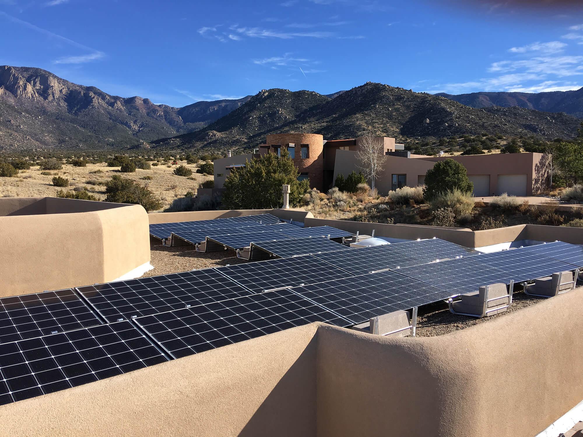 12.4kw Solar system installation in Albuquerque